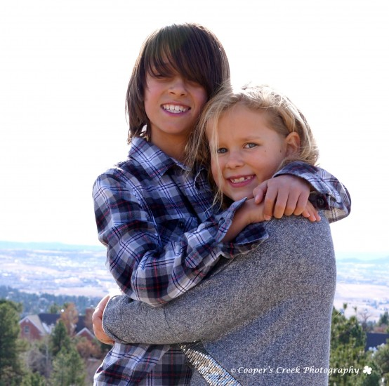 Brooks kids hugging 2