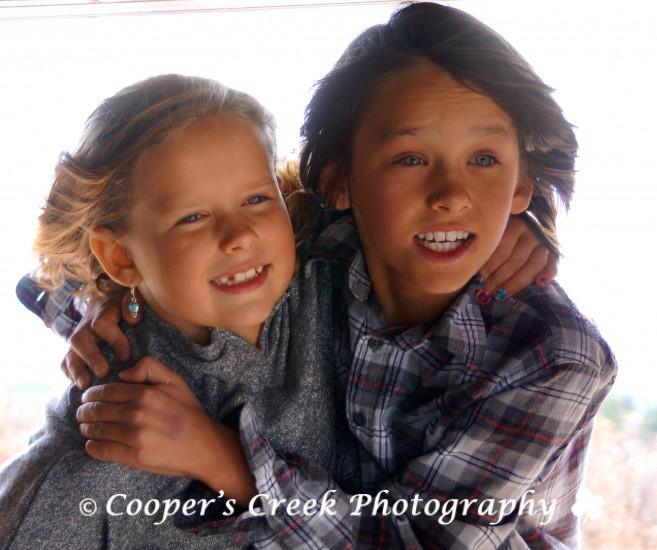 Kids in window