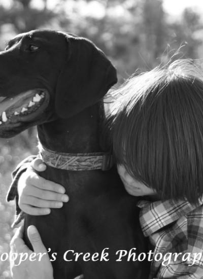 dog and kid